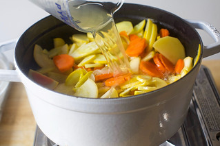 add the broth