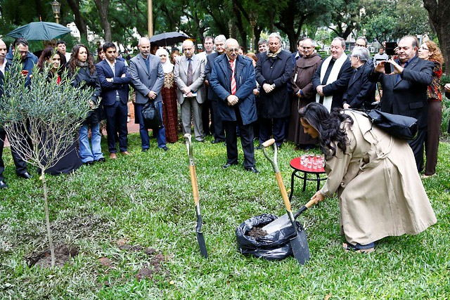 Argentina-2016-04-18-Syria's 70th Anniversary in Argentina Planting an Olive Tree for Peace