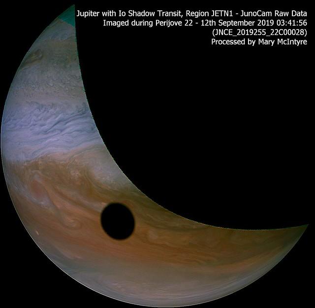 Jupiter + Io Shadow Transit - JUNOCAM Data