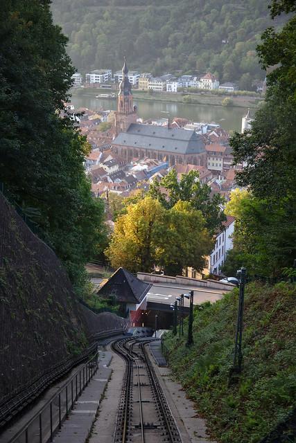 Centre of Heidelberg during sunset