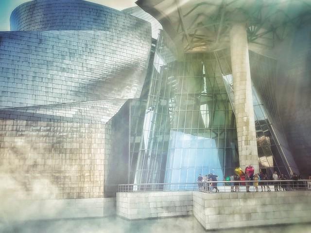 Guggenheim in mist