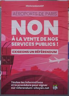 Non à la vente de nos services publics !