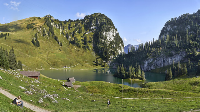 Lake Hinderstock in the Bernese Alps