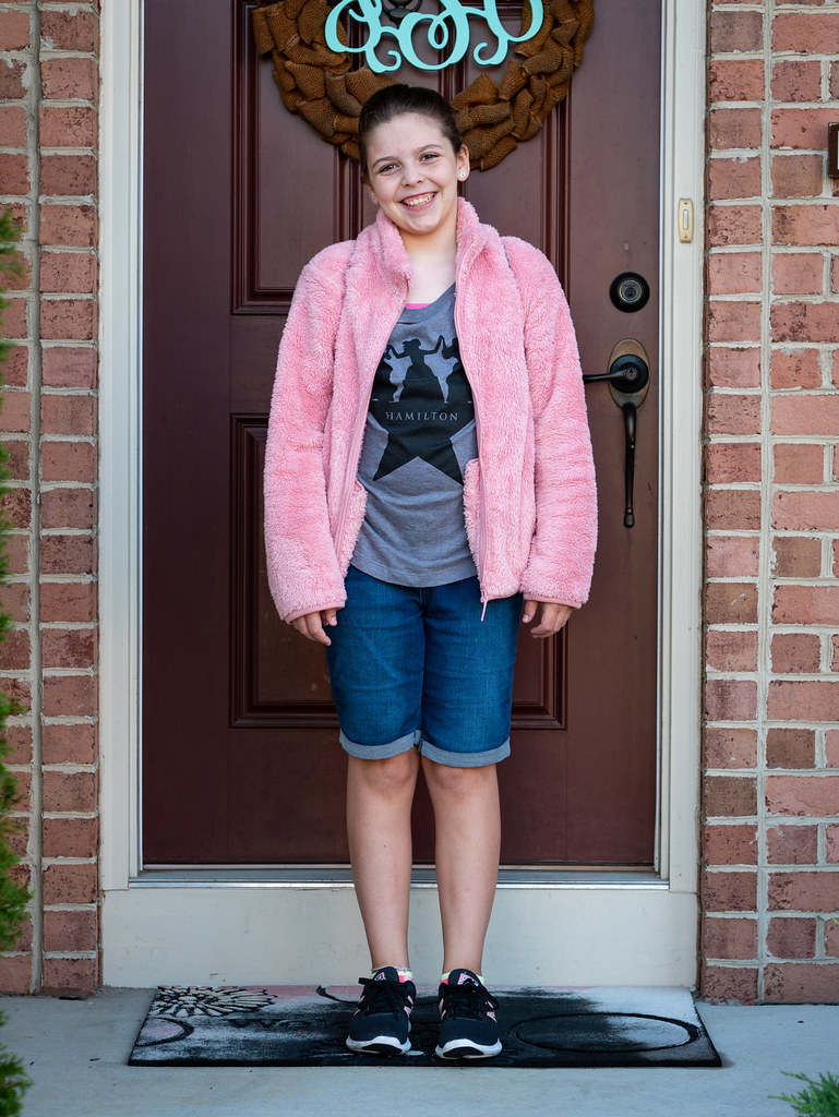 Molly first day of 7th grade