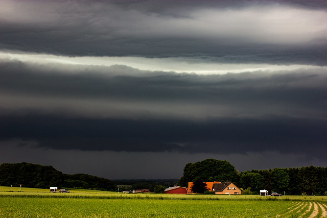 Shelf-Cloud, Thunderstorm, Rosendahl, Germany