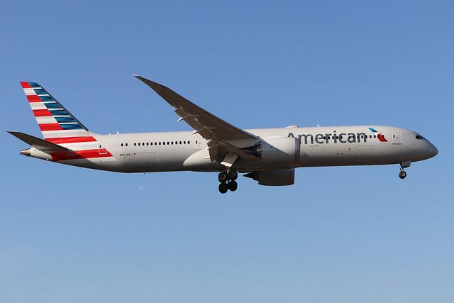 N827AN  -  Boeing 787-9 Dreamliner  -  American Airlines  -  LHR/EGLL 19/9/19