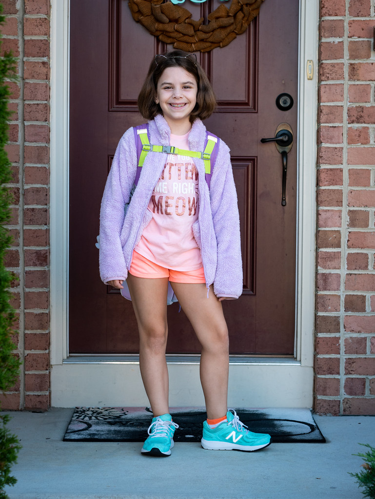 Leah first day of 4th grade