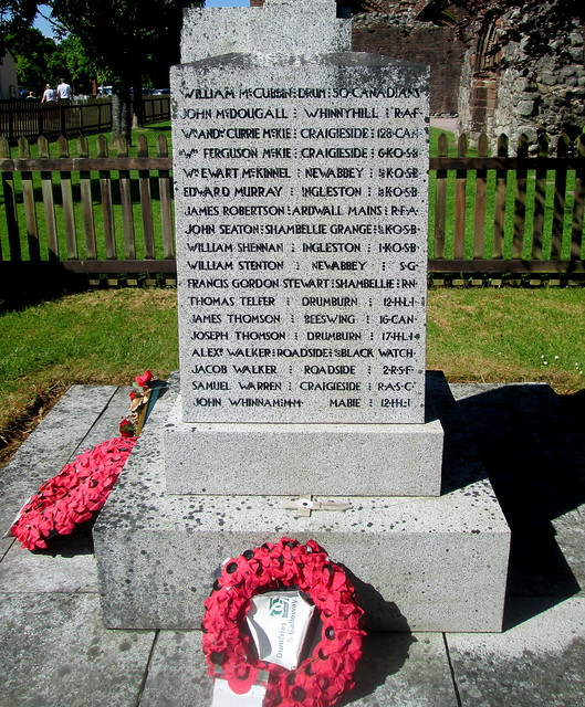 Names, New Abbey War Memorial