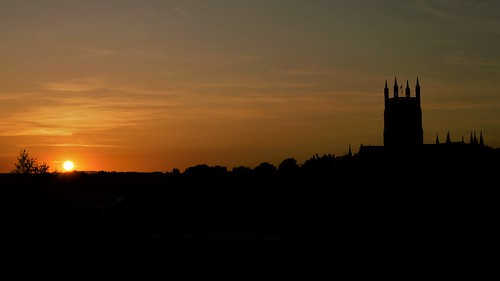 sunset sunsets fortroyalpark worcestercathedral worcester silhouette