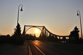 Sonnenuntergang an der Glienicker Brücke in Potsdam