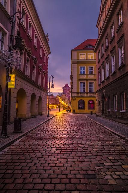 Poznan at blue hour