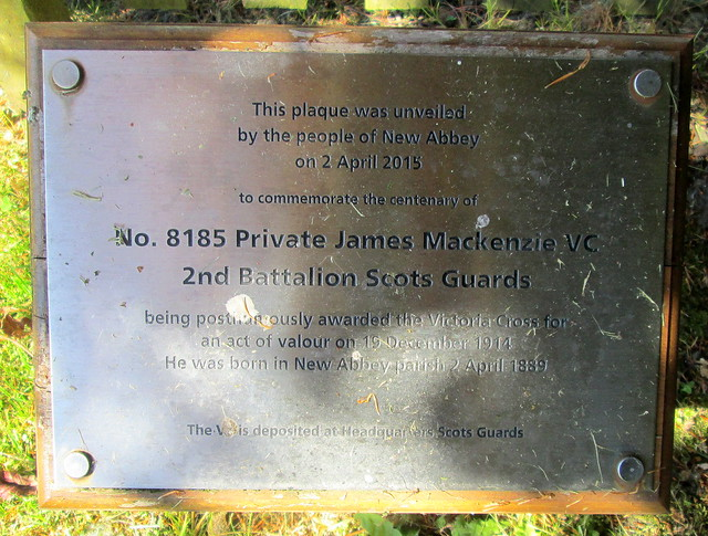 V C Dedication, Pte James MacKenzie