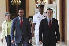 Presidente Maduro recibe a Ministro de Seguridad Nacional y Comunicaciones de Trinidad y Tobago