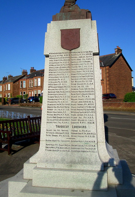 Maxwelltown War Memorial Names