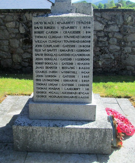 New Abbey War Memorial, Names