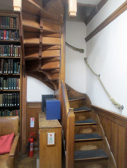 reading room lower stairs
