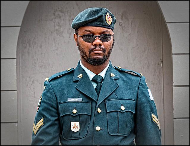 Corporal Chibanga on Guard
