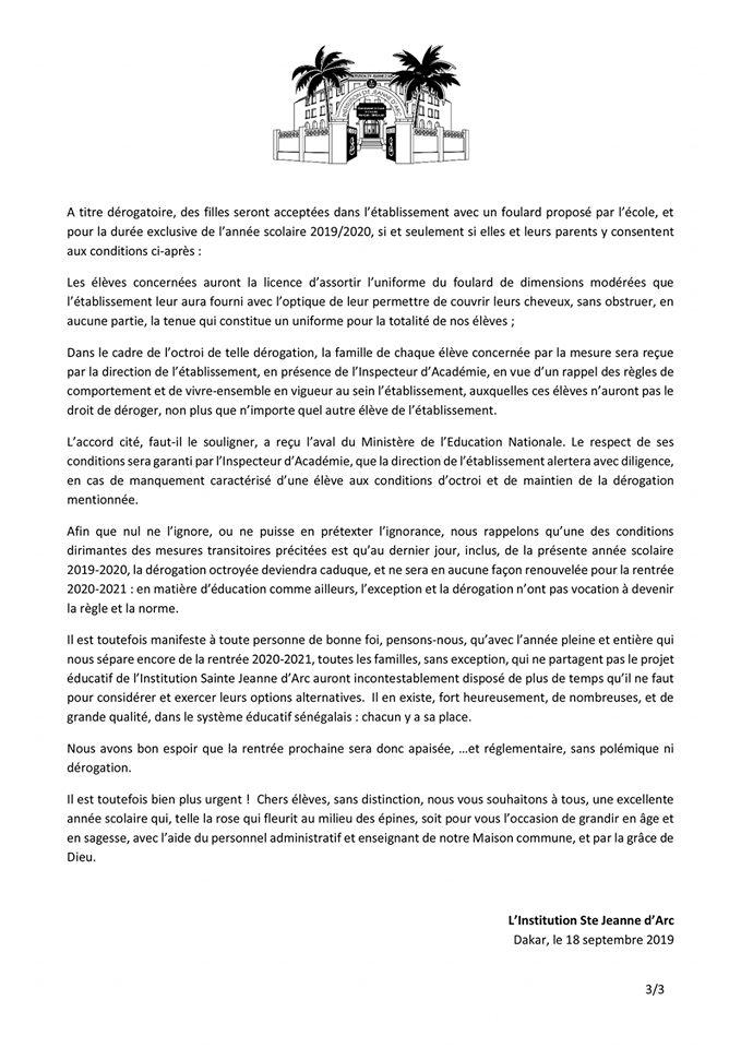 Réglement Intérieur ISJA DAKAR 3