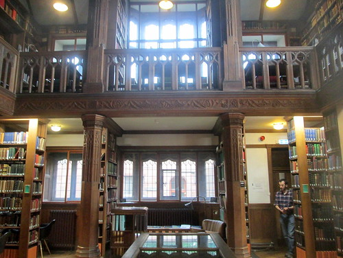 Gladstone's cabinet and Reading Room windows
