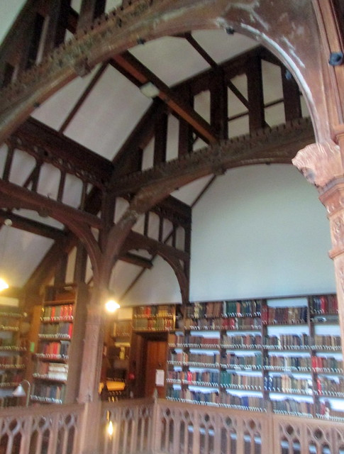 Gladstone's Library, reading room ceiling supports