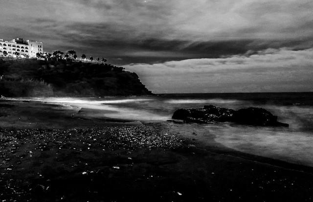 Beach at dusk