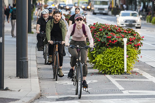 Cyclists on Adelaide