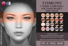 Genus Eyebrows Thin Curved (for FLF)