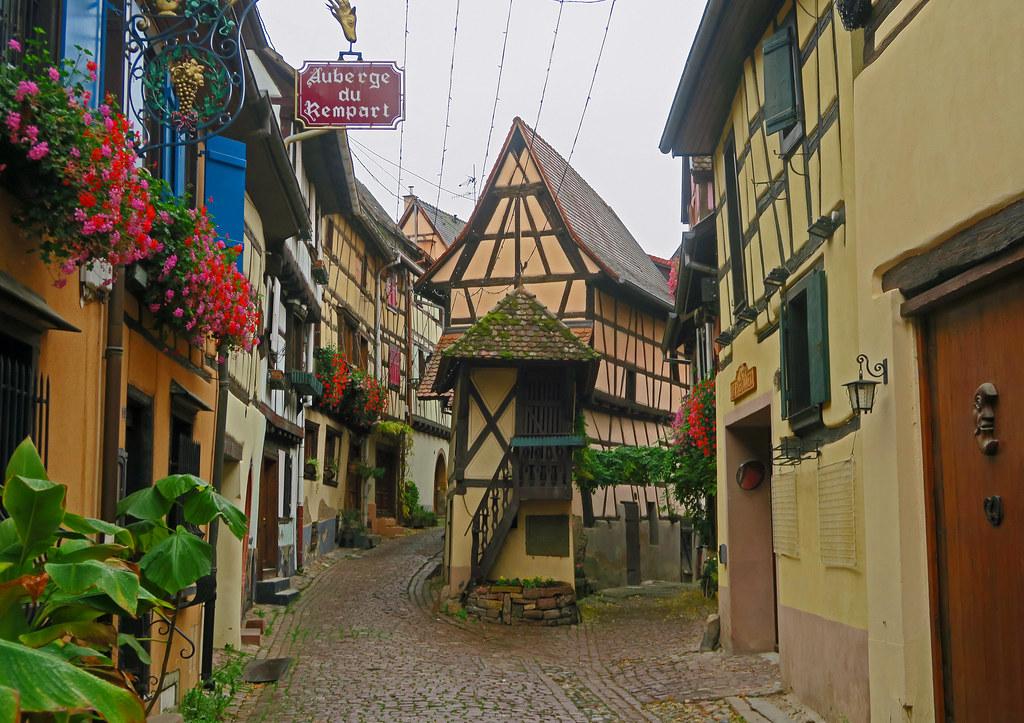 Rue du Remparts - Eguisheim, Alsace, France