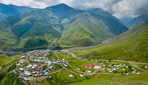 traveldestinations landscape asia azerbaijan colorimage panorama khinaliq beautyinnature remote tourism aerial caucasus outdoors eurasia travel horizontal scenicsnature mountain qubadistrict