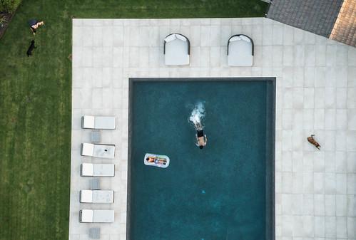 Aerial Shot of a Swimming Pool - Del Mar, California