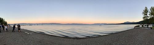 Tahoe at Sunset Pano