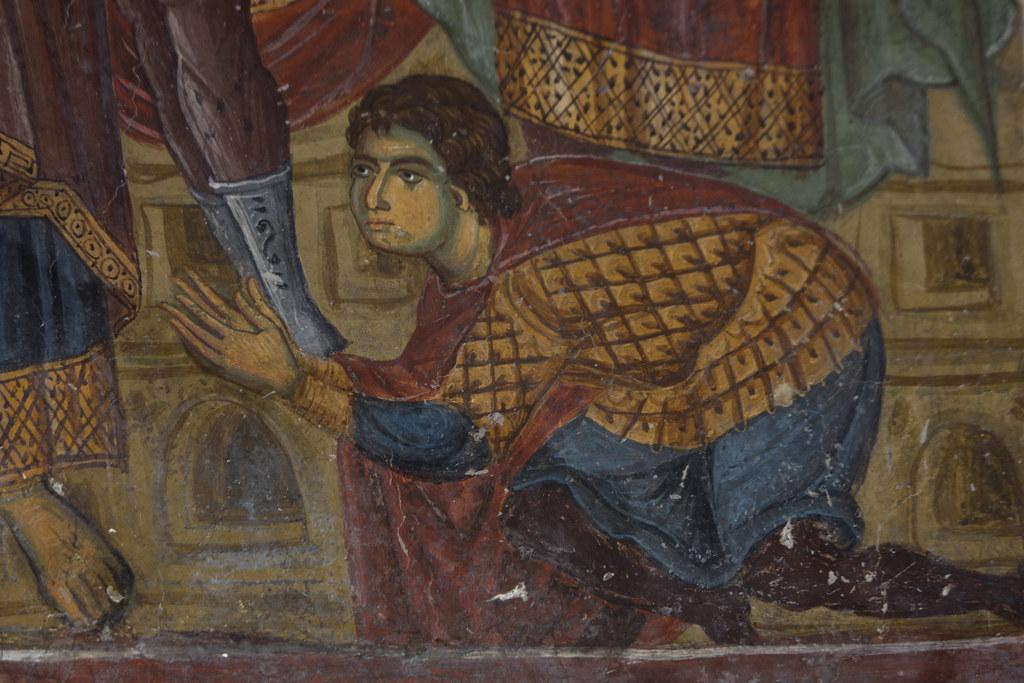 Mocking of Christ. Detail.