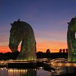 19. September 2019 - 20:00 - The Kelpies at dusk.