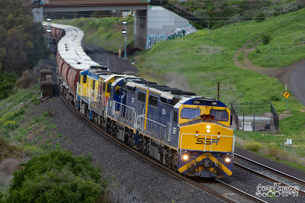 C504, C507, 4911 & 4532 at Bell Post Hill with 9733V grain on their way to Dimboola by Corey Gibson