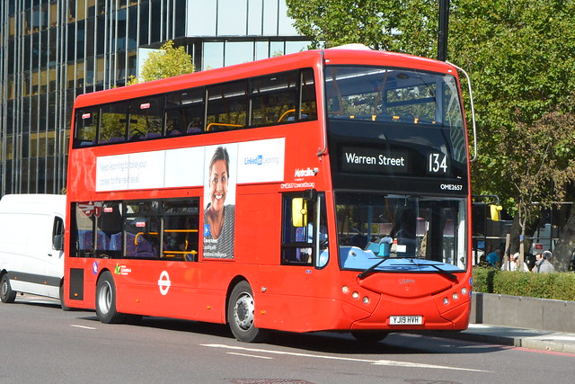 YJ19 HVH (OME2657) Metroline London