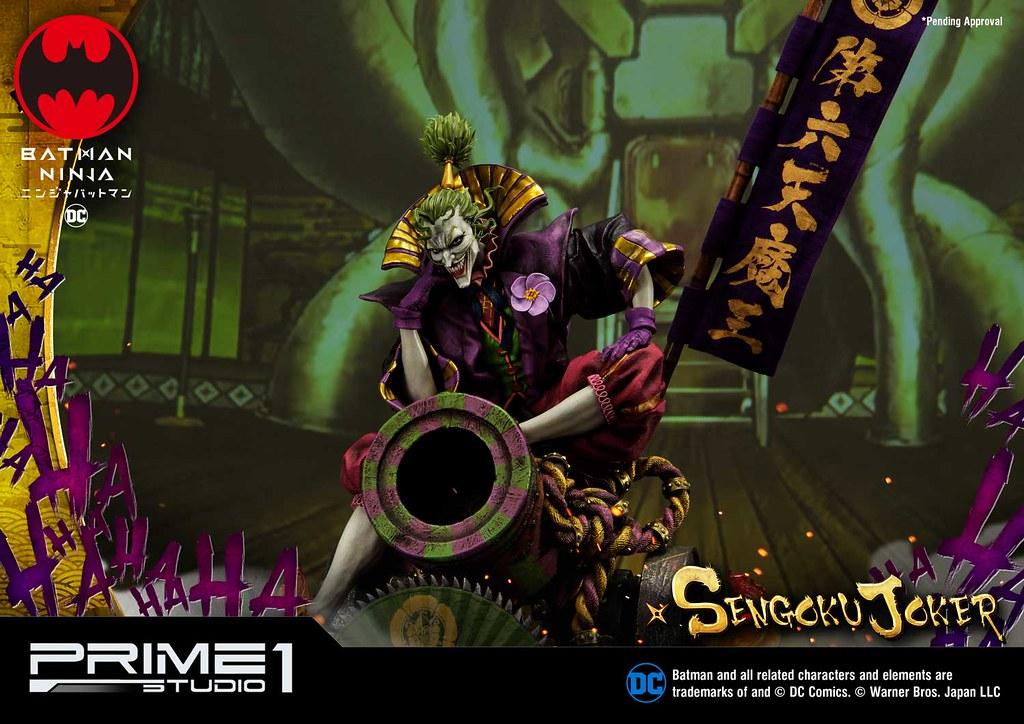 第六天魔王狂妄現身! Prime 1 Studio《忍者蝙蝠俠》戰國小丑 戦国ジョーカー PMDCNB-02 1/4 比例全身雕像作品 普通版/DX版