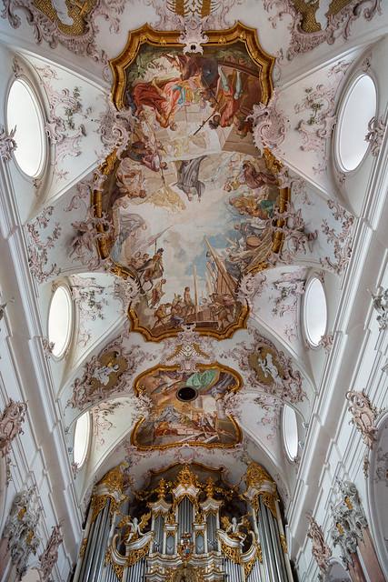 Abteikirche Amorbach Deckenansicht