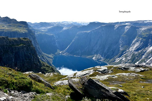 Hike to the Trolltunga  28 km at the moment for this hike, before it was shorter but the made a new road, first 4 km were beofre 1,5 and if you want you can take the Shuttlebus, I walked with my kids whole trail.