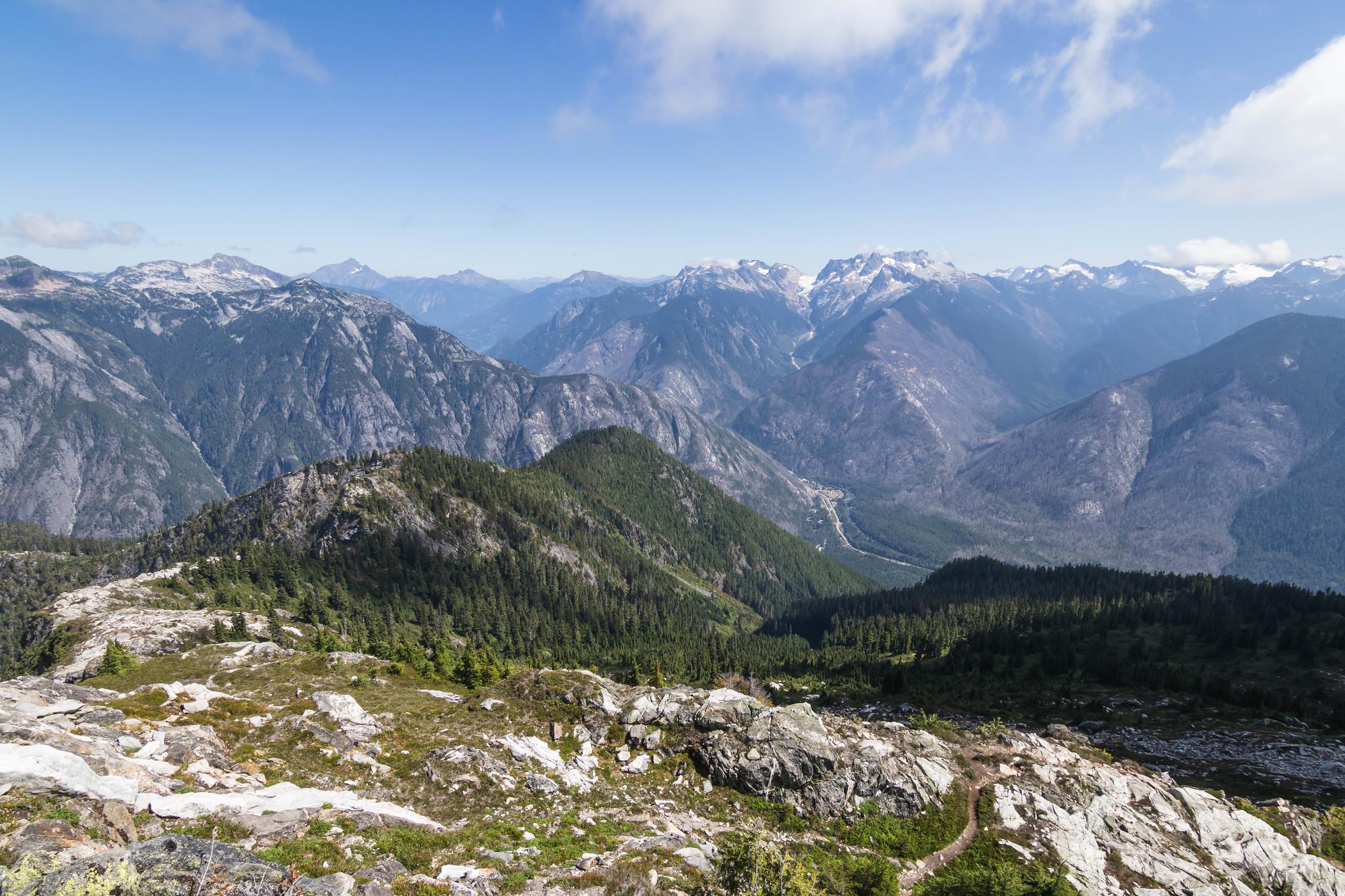 Leaving Trappers Peak