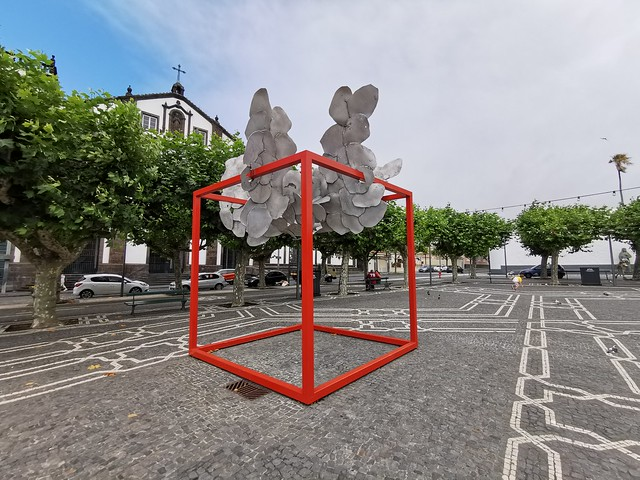 Escultura Ponta Delgada Isla San Miguel Azores Portugal