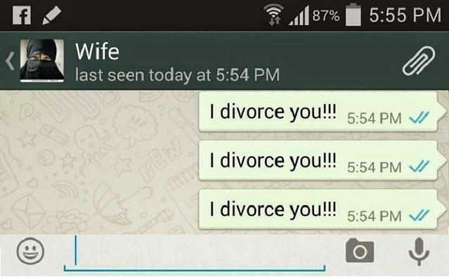4171 An Arab lady sent a divorce message to herself from her husband's cell phone 02