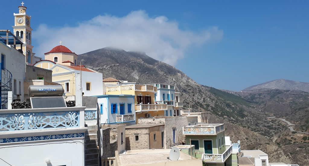 Uitzicht vanuit restaurant Edem, Olymbos | Vakantie Karpathos