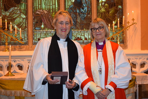 The Rev Carol Hennessy and Bishop Pat Storey.