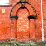 Bricked up doorway in Preston
