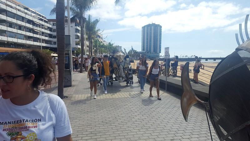 Manifestación estudiantil contra el cambio climático