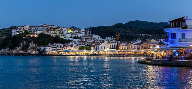 Kokkari Town Seafront at Dusk ( Kokkari - Samos) (High ISO) (Panasonic S1 & Sigma DN 45mm f2.8 Prime) (1 of 1)