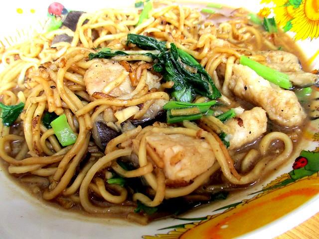 Fish noodles. baung
