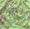 Carte IGN du Chemin de Paliri depuis la piste de Mela/Lora au refuge de Paliri