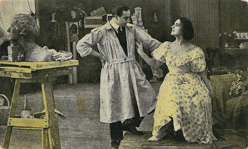 Gustavo Serena and Francesca Bertini in Il processo Clémenceau (1917)