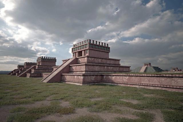 The Citadel. Teotihuacan. Mesoamerica. 250 A.D.